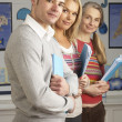 Portrait Of Group Of Teachers In Classroom - Foto Stock