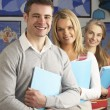 Stock Photo: Portrait Of Group Of Teachers In Classroom