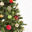 Studio Shot Of Decorated Christmas Tree — Stok fotoğraf