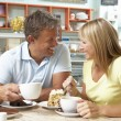 Young Couple Enjoying Coffee — Stock Photo