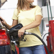 Detail Of Female Motorist — Stock Photo