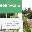 Woman At Recycling Centre Disposing Of Garden Waste — Stock Photo #4841512