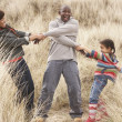 Royalty-Free Stock Photo: Family Having Fun In Sand Dunes