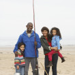 Family On Beach Fishing Trip — Stock Photo #4841737