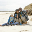 Royalty-Free Stock Photo: Black Family on a beach