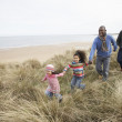 Black Family on a beach — Stock Photo #4842446