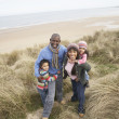 Black Family on a beach — Stock Photo #4842448