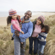 Stock Photo: Black Family on a beach