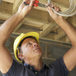 Electrician Working On Wiring In New Home — Stock Photo #4842508