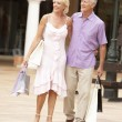 Senior Couple Enjoying Shopping Trip Together — Stock Photo