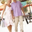 Senior Couple Enjoying Shopping Trip — Stock Photo #4842693