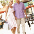 Senior Couple Enjoying Shopping Trip — Stock Photo