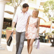 Couple Enjoying Shopping Trip Together — Stock Photo