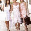 Senior Mother And Daughters Enjoying Shopping Trip Together — Stock Photo
