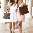 Two Young Women Enjoying Shopping Trip Together — Stock Photo #4842765