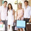 Group Of Friends Enjoying Shopping Trip Together — Stock Photo