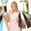 Young Woman Enjoying Shopping Trip — Stock Photo