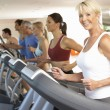 Senior Woman On Running Machine In Gym — Stock Photo #4842977
