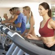 Woman On Running Machine In Gym — Stock Photo