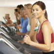 Woman On Running Machine In Gym — Stock Photo #4842983
