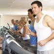 Man On Running Machine In Gym — Stock Photo #4842990