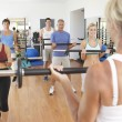 Group Of Lifting Weights In Gym — Stock Photo #4843042