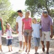 A family, with parents, children and grandparents, walk through — Stock Photo #4843272