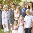 Family Group At Wedding — Stock Photo