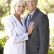 Portrait Of Senior Bridal Couple Outdoors — Stock Photo