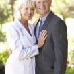 Portrait Of Senior Bridal Couple Outdoors — Stock Photo