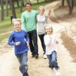 Family enjoying walk in park — Stock Photo #4844069