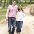 Stock Photo: Romantic couple enjoying walk in park