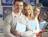Portrait Of Group Of Teachers In Classroom — Stockfoto