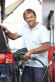 Detail Of Male Motorist Filling — Stock Photo