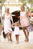 Grandmother, Mother And Daughter Enjoying Shopping Trip Together — Stock Photo