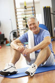 Man Resting After Exercises In Gym — Stock Photo