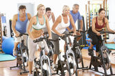 Group Of In Spinning Class In Gym — Stock Photo