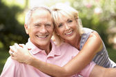 Senior couple relaxing together in park — Stock Photo