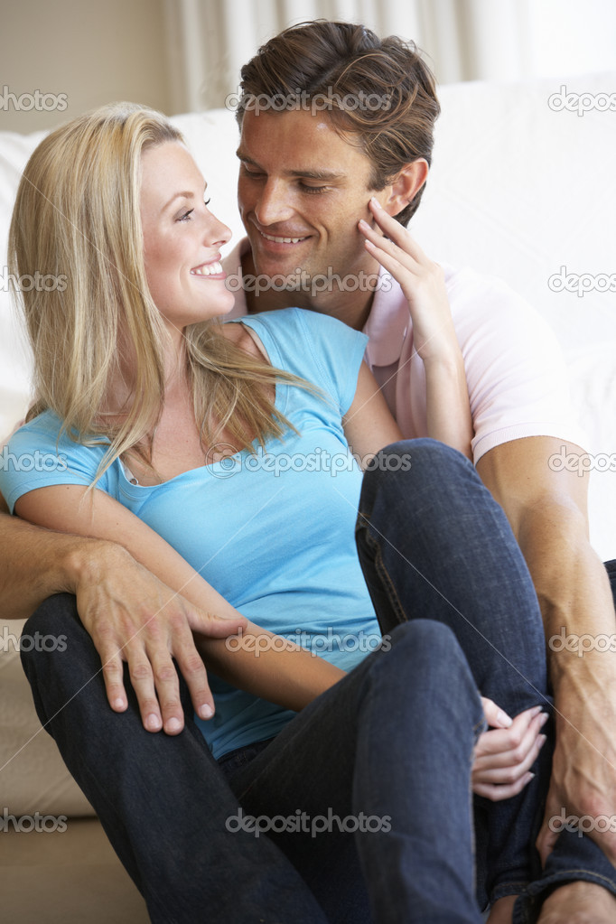 Young couple posing indoors  Stock Photo #4843905