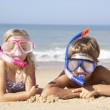 Young children on beach holiday — Stock Photo #5179431