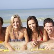 Stock Photo: Two young couples on beach holiday