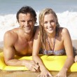 Young couple on beach holiday — Stock Photo #5179455
