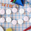 Cupcakes spell out happy birthday — Stock Photo #5179816