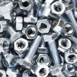 Close up of nuts and bolts — Stock Photo