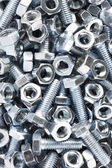 Close up of nuts and bolts — Foto de Stock