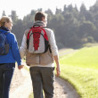 Young couple walking in park — Stock Photo #5190361