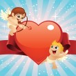 Valentine Cupids — Vector de stock #4486438