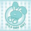 Baby Bunny Boy — Stock Vector