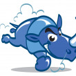 Royalty-Free Stock Vector Image: Blue Rhino