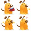 Chubby Dog Set — Stock Vector